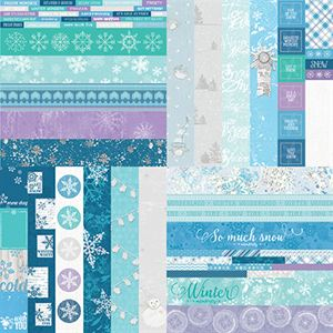 "Picture of Winter Wonders by Katie Pertiet 2"" Border Strips - Set 12"